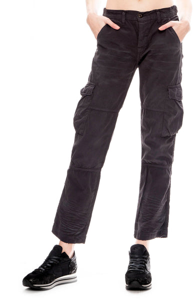 NSF Womens Basquiat Cargo Pants in Soft Fade Black