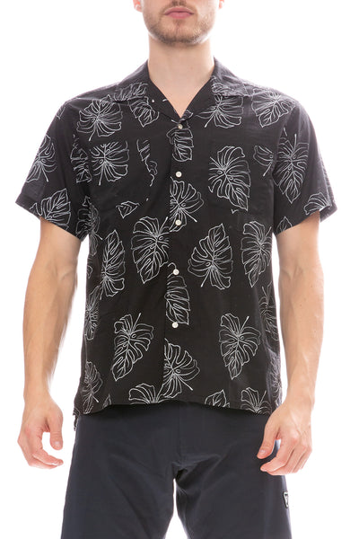 Life After Denim Monster Leaf Shirt in a Black