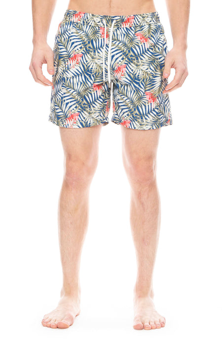 Palm Hibiscus Swim Shorts