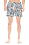 Hartford Palm Hibiscus Swim Shorts in Navy