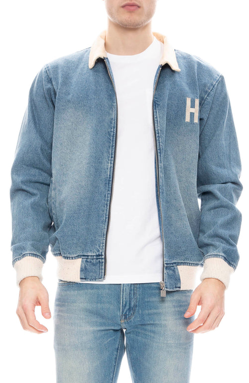 Hotel 1171 Mens Inyo Washed Indigo Denim Jacket