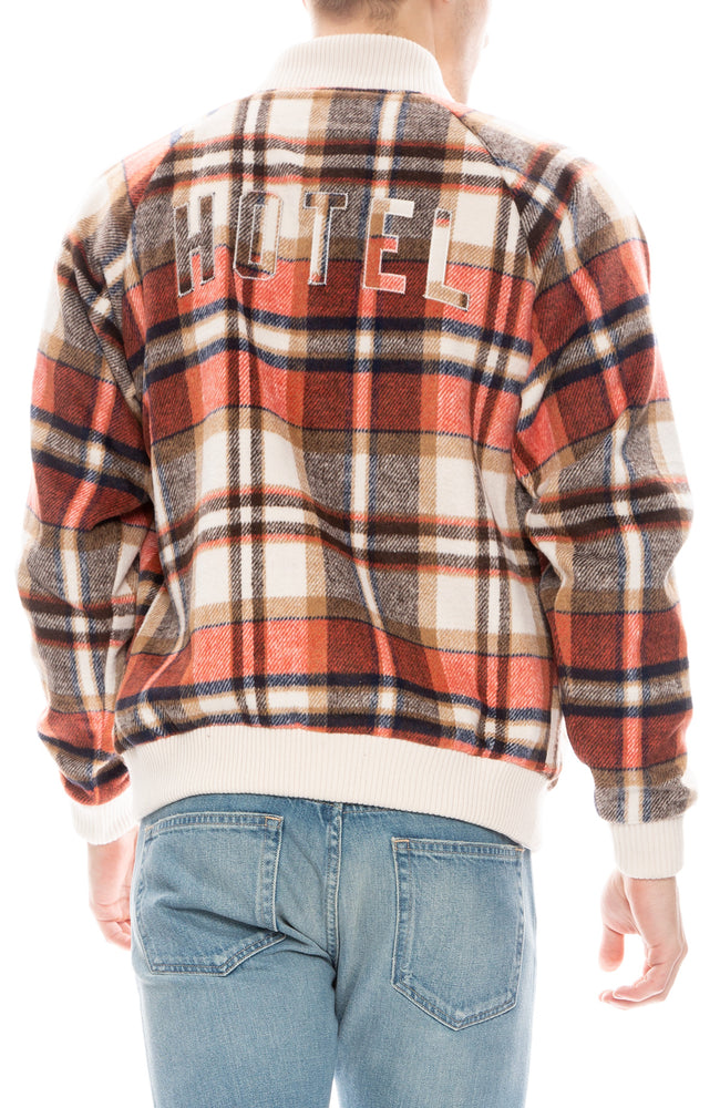 Hotel 1171 Mens Orange and Natural Santa Fe Flannel Jacket