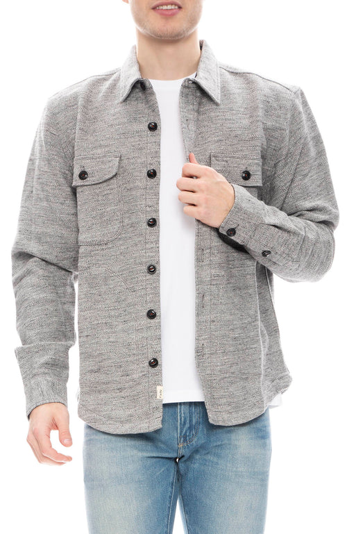 Kato Mens Anvil Speckle Shacket in Grey