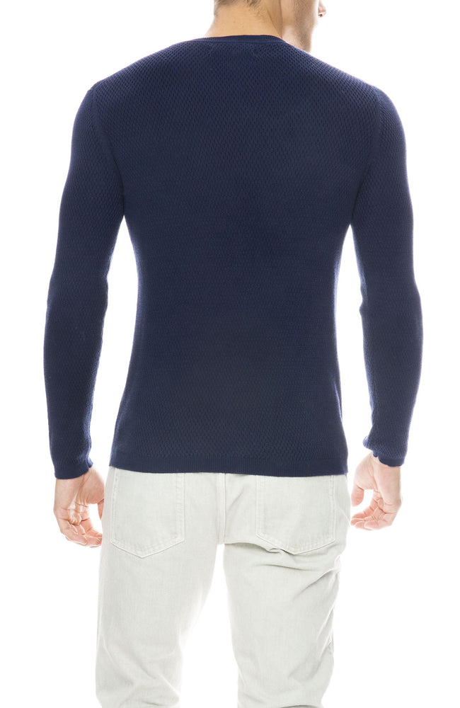 Outerknown Caravan Crew Sweater in Dark Cobalt
