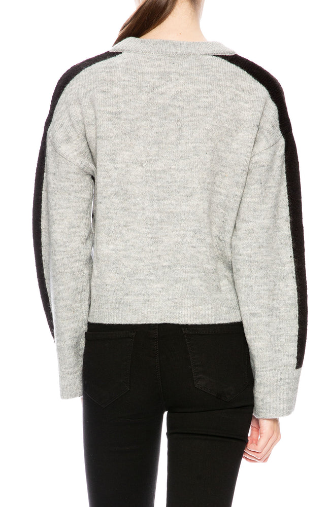 Native Youth Contrast Panel Sweater at Ron Herman