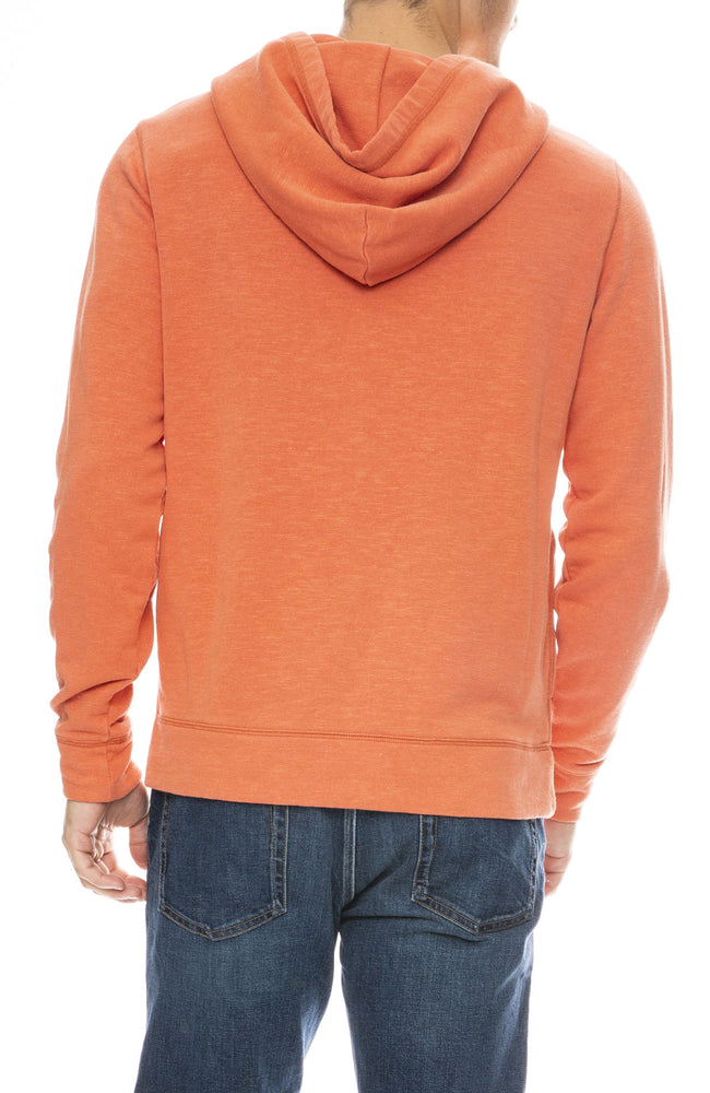 Outerknown Sur Snap Hoodie in Sunset Orange