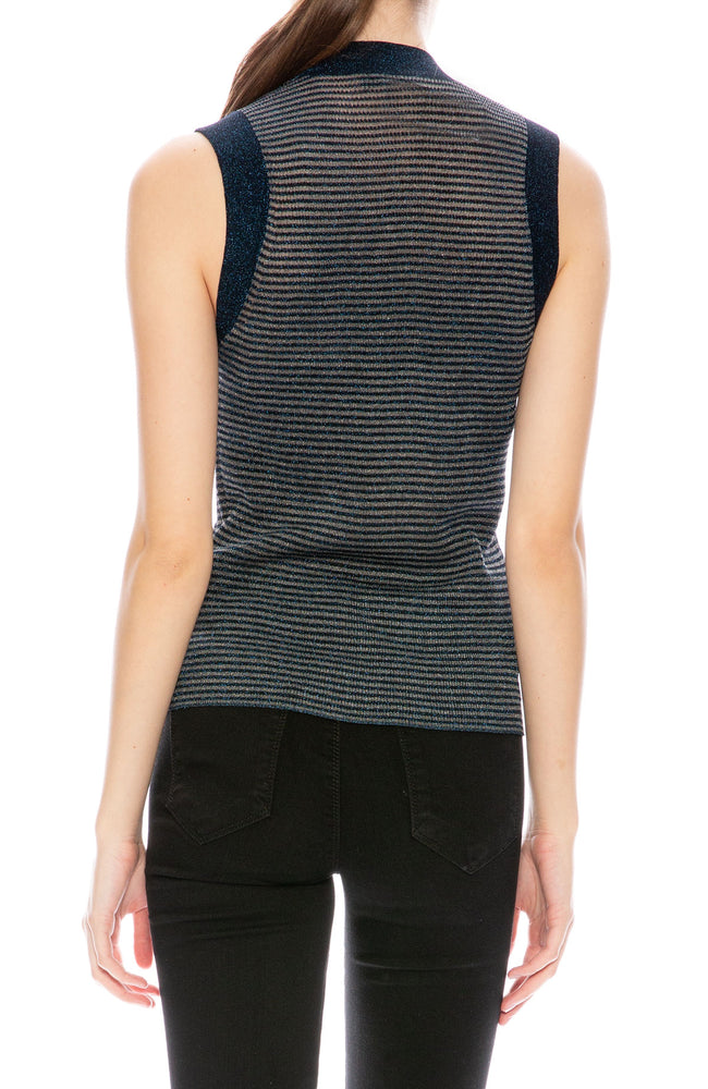 Rag & Bone Raina Lurex Stripe Tank at Ron Herman