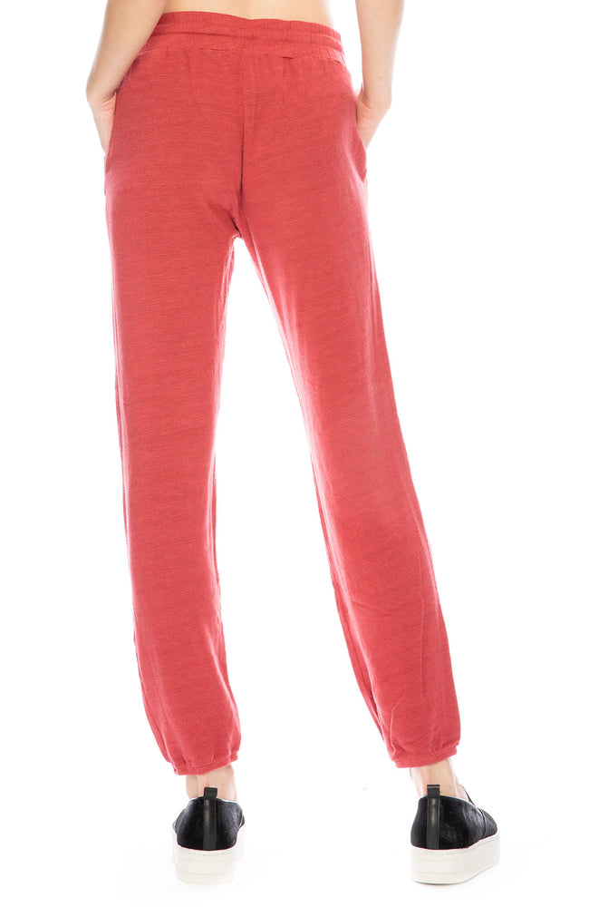 Monrow High Waisted Sweatpants in Vintage Red at Ron Herman