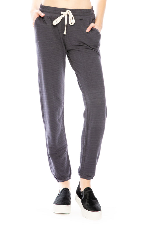 Monrow High Waisted Sweatpants in Vintage Black at Ron Herman