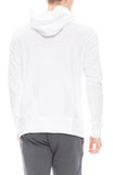 Wings + Horns Mens Slub Hooded Pullover in White