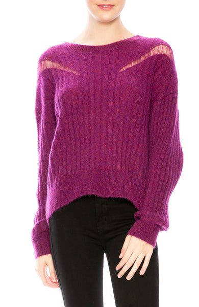 Iro Opera Sweater in Magenta Purple at Ron Herman