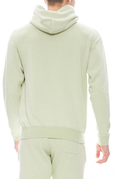 John Elliott Mens Vintage Fleece Hoodie in Mint Green