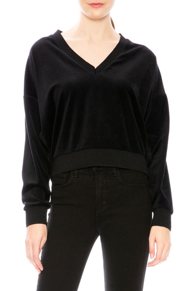 Iro Stud Sleeve Velvet Sweater at Ron Herman