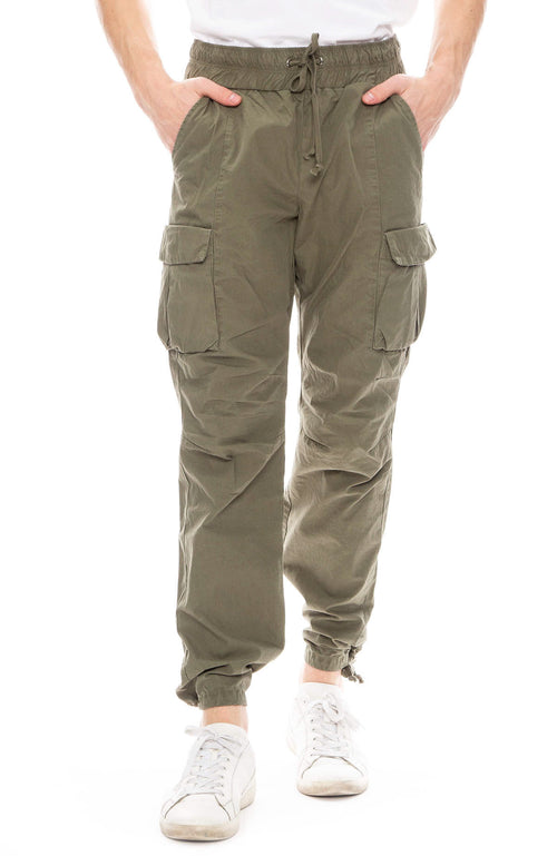 John Elliott Mens Cargo Pants in Olive