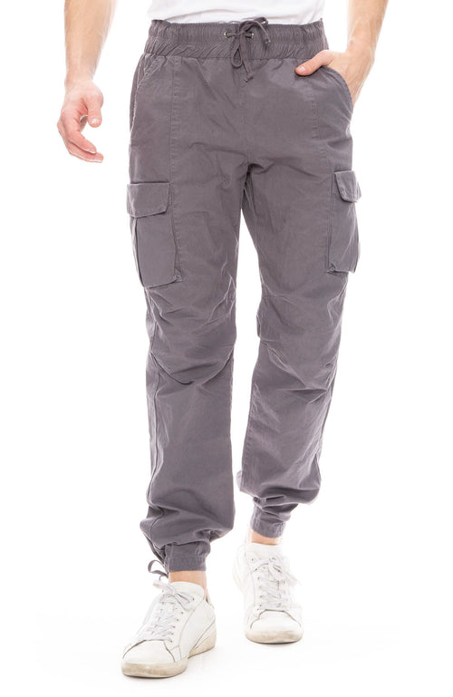 John Elliott Mens Cargo Pants in Charcoal
