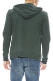 Mitchell Evan Zip Up Water Resistant Hoodie in Pine