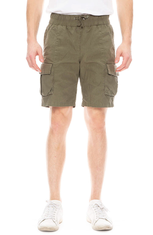 John Elliott Mens Cargo Shorts in Olive
