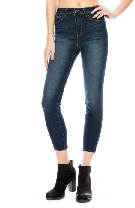 The Margot High Rise Ankle Skinny in Baltic