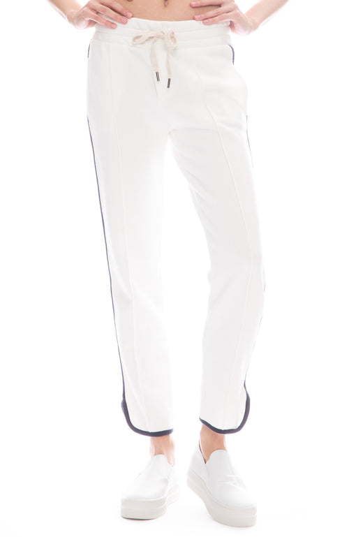 NSF Ivy Dolphin Sweatpants in Soft White