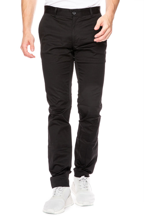 Abby Classic Chino Pants in Black
