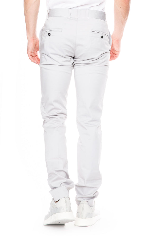 Abby Classic Chino Pants in Cement Gray