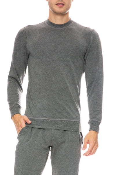 Mitchell Evan Crew Neck Sweatshirt in Grey