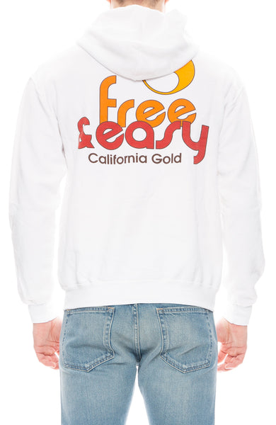Free & Easy Mens Sunkissed Hoodie in White