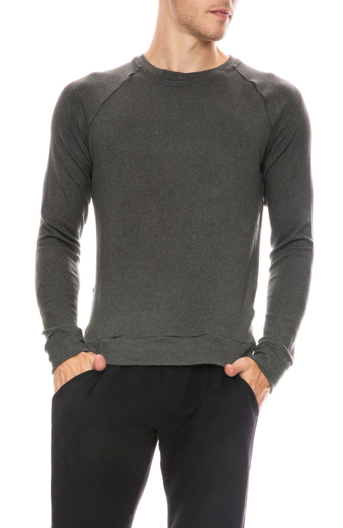 Mitchell Evan Long Sleeve Raglan Top in Ivy
