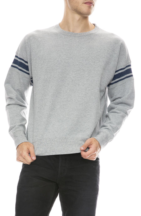 Ribbed Stripe Sweatshirt