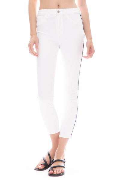 L'Agence Margot Nautical Stripe Jean in Blanc