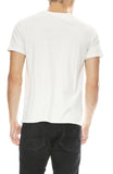 Remi Relief Mens Kiss Print T-Shirt in Off White