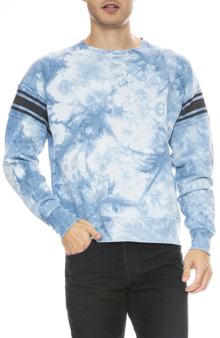 Tie Dye Ribbed Stripe Sweatshirt