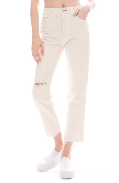 AMO Loverboy Relaxed Jeans in Vintage White