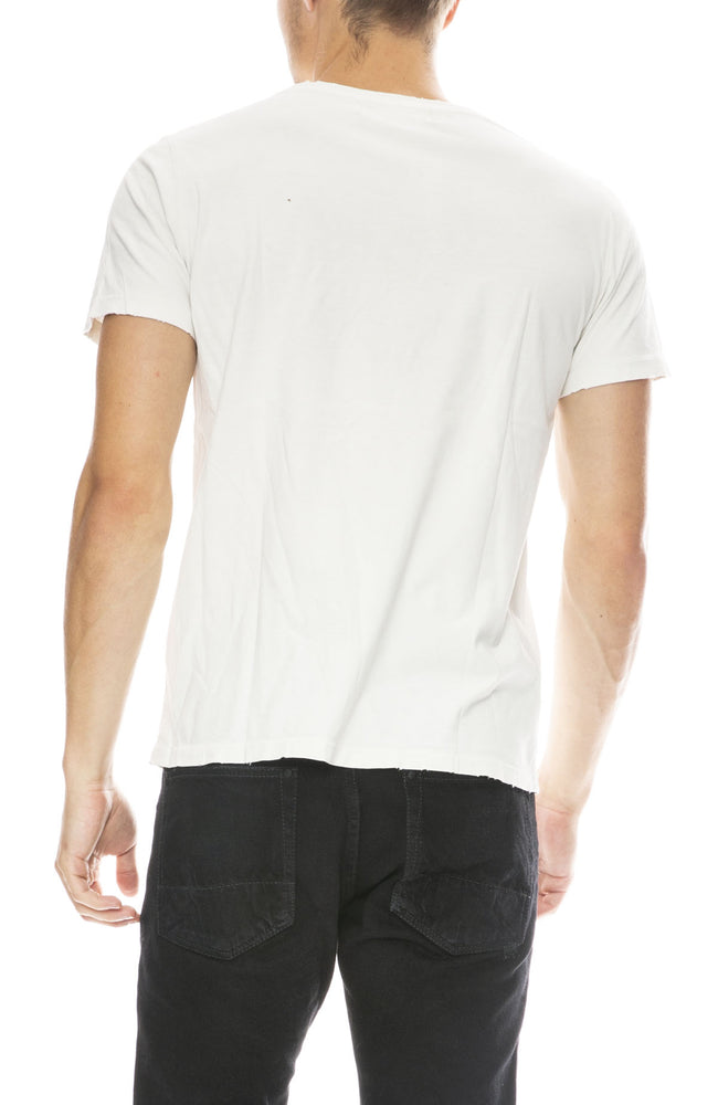 Remi Relief Mens The Now Short Sleeve T-Shirt in Off White