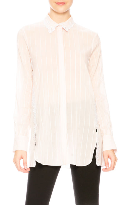 Scallop Cutout Blouse