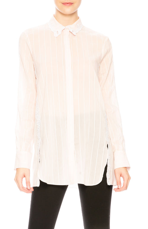 Jonathan Simkhai Scallop Cutout Blouse at Ron Herman