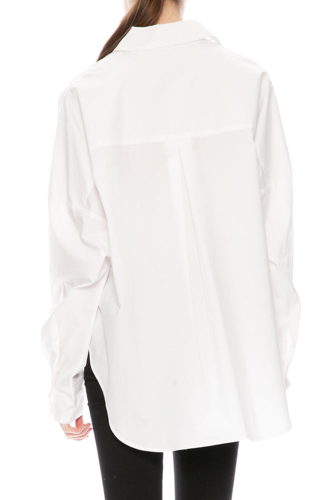 Secular Oversized Harley Shirt in White at Ron Herman
