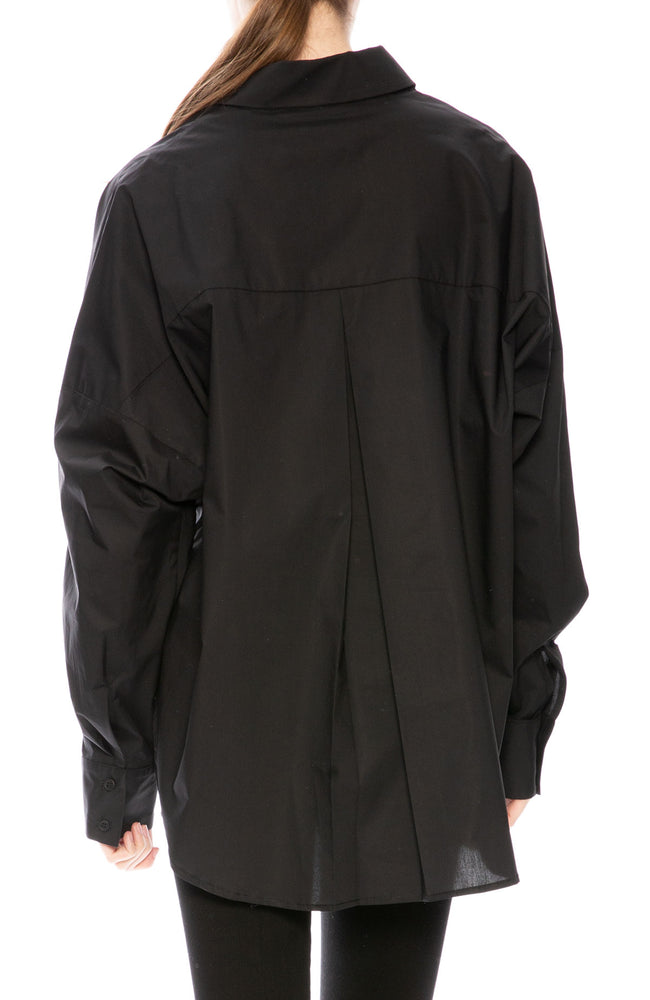 Secular Oversized Harley Shirt in Black at Ron Herman