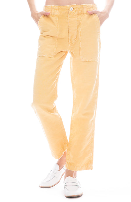 Relaxed Straight Leg Army Pant
