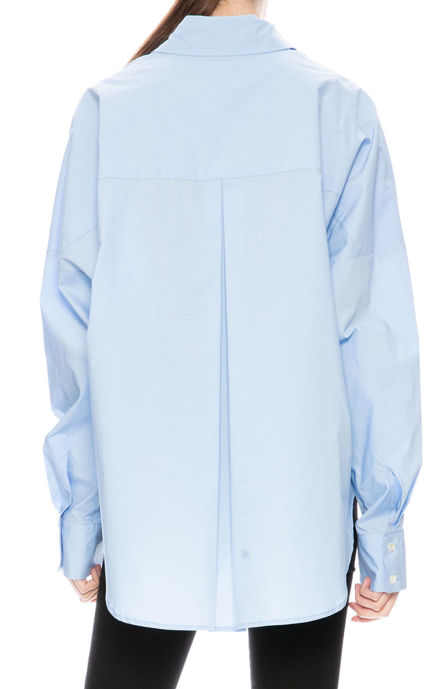 Secular Oversized Harley Shirt in Blue at Ron Herman