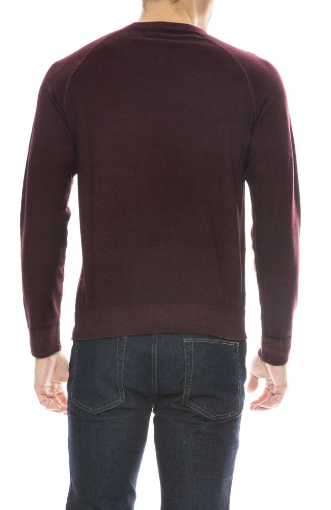 Hartford Merino Knit Pullover Sweater in Red