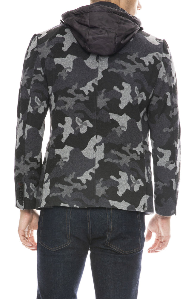 Masons Camo Blazer with Removable Hood