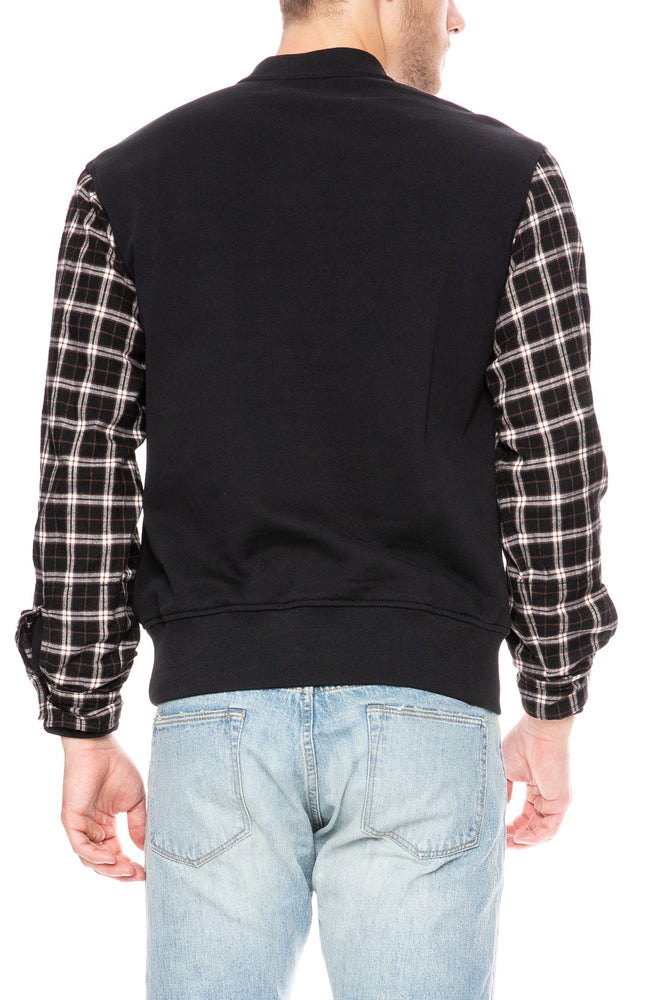 Contrast Flannel Henley