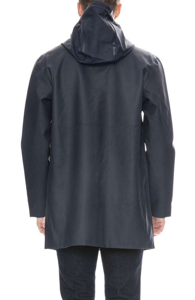 Stutterheim Mens Stockholm Raincoat in Navy
