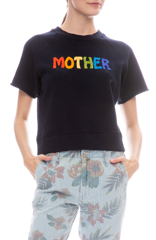 Raw Sleeve Mother Pullover Sweatshirt