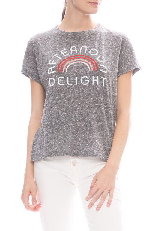 Mother Afternoon Delight T-Shirt in Heather Grey