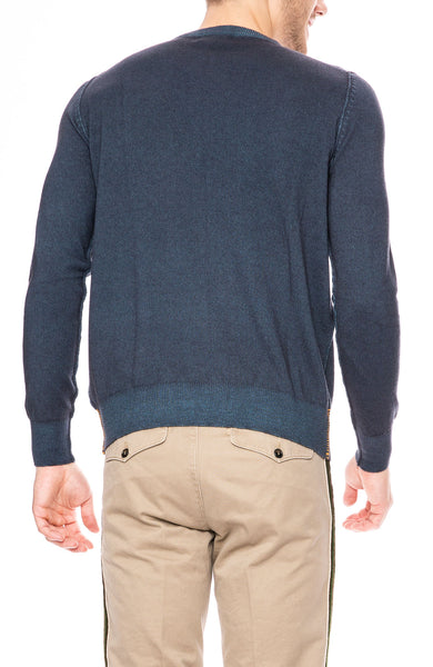 Presidents Crew Neck Cashmere Sweater in Petrol at Ron Herman