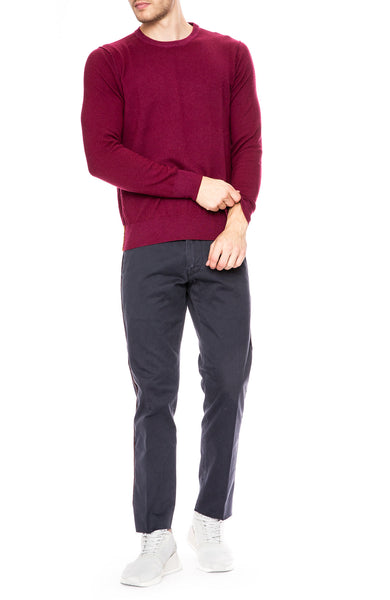 Presidents Crew Neck Cashmere Sweater in Burgundy at Ron Herman