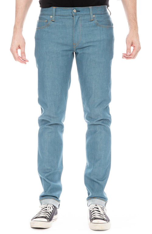 Kato Mens Pen Slim Jean in Raw Vintage Blue