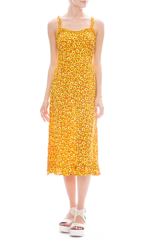 Faithfull the Brand Neomie Midi Dress in Saffron